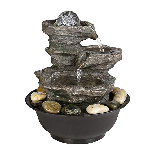 Crystal Ball Led Light Indoor Fountain