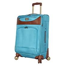 Caribbean Joe Luggage Castaway Expandable Suitcase With Spinner Wheels (Light Blue)