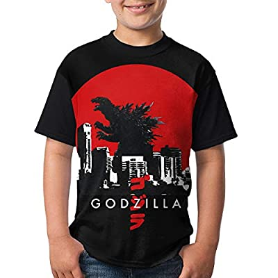 Godzilla Big Boys & Girls Short Sleeve T-Shirt 3D Baseball Tee