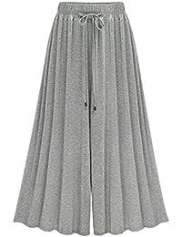 Women's Pleated Elastic Waist Modal Jersey Wide Legs...