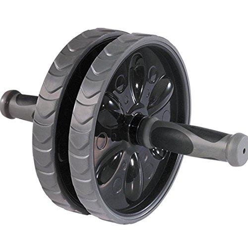 Vinallo AB Roue avec double Roues pour Core d'entraînement ABS abdominale Système d'entraînement (Noir)