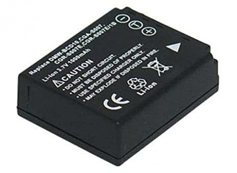 Fotocamera batteria Accu per Panasonic Lumix cga-s007 cga-s007e