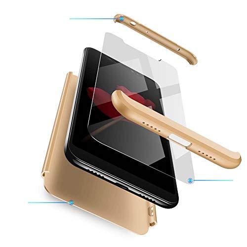 cmdkd Xiaomi Redmi Note 6 Pro Funda, Xiaomi Redmi Note 6 Pro Case Bumper 3 en 1 Estructura 360 Grados Integral para Ambas...
