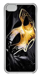 covers DIY mask carnival PC Transparent case for iphone 5C