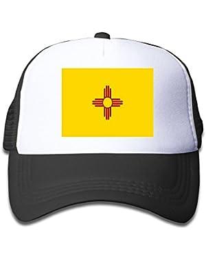 Flag Of New Mexico Boy & Girl Grid Baseball Caps Adjustable sunshade Hat For Children!