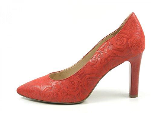 Caprice 9-22402-20-552 Scarpe Da Donna Pompe Tacchi Alti Larghi G Rosso