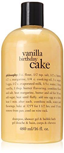 Vanilla Birthday Cake - Philosophy Vanilla Birthday Cake Bath Care for Unisex, 16 Ounce