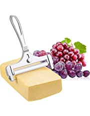 Provone Stainless Steel Adjustable Wire Cheese Slicer Cheese Cutter for Soft, Semi-Hard, Hard Cheeses Kitchen Cooking Tool (Adjustable Cheese Slicer)