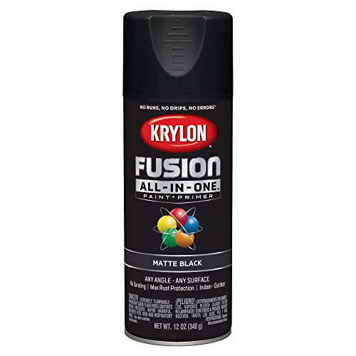 (Krylon K02754007 Fusion All-in-One Spray Paint, Black)