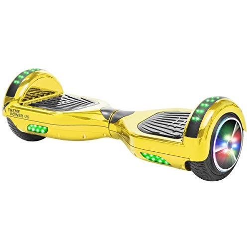 - XtremepowerUS Self Balancing Scooter Hoverboard UL2272 Certified, w/Bluetooth Speaker LED Light (Gold)