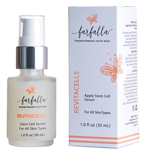 Revitacells Apple Stem Cell Serum - Nourishing Anti Wrinkle, Anti Aging Serum for Face, Neck, Slows Down Skin Aging Process, Reduces & Repairs Wrinkles, Skincare Youthful Skin Boost, Glowing Skin