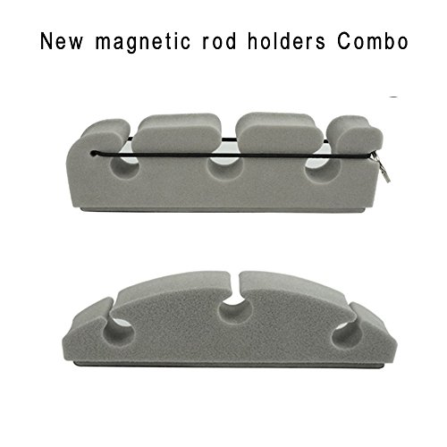 Magnetic Holders Rod (Aventik Magnetic Rod Holders Combo Pack 2 Designs in 1 Pack Super Strong Magnetic Power Safe Holding Improved 2018.8)