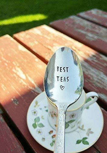 Best Teas - Hand Stamped Spoon - Best Friend - Engraved Teaspoon - BFF - Tea Drinker