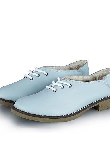 us8 Uk6 Oficina boda Tacón Blue Comfort Njx Casual Redonda De Innovador Light Exterior Cn39 Oxfords Mujer Y Zapatos Vestido Punta Eu39 Plano Trabajo 2016 xRfOP