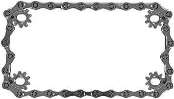 custom accessories 92773 chain motorcycle license plate frame - Motorcycle Plate Frame
