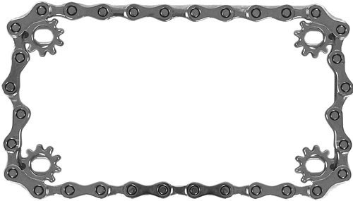 Custom Accessories 92773 Chain Motorcycle License Plate Frame