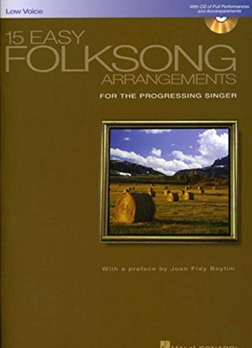 - 15 Easy Folksong Arrangements: Low Voice Introduction by Joan Frey Boytim