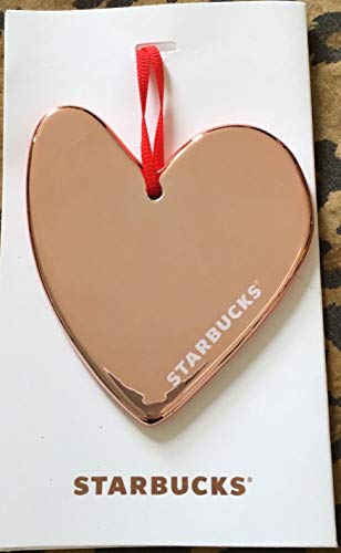 Gold Heart Ornaments - Starbucks 2017 Holiday Ornament Rose Gold Heart