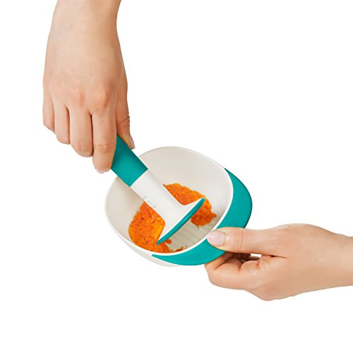 41zVFaLPd7L - OXO Tot Food Masher, Teal