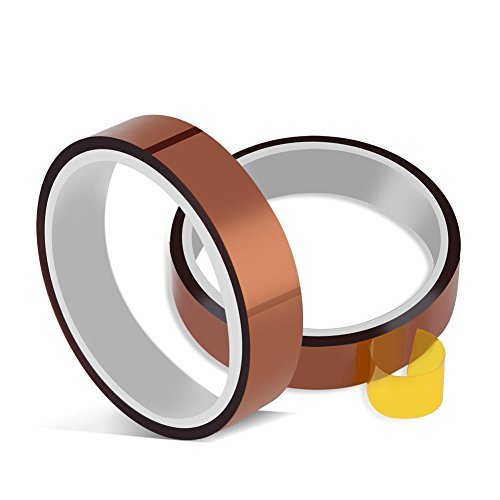 33m(100ft) High Temperature Heat Resistant Tape Sublimation Dye Mug Electronic Polyimide Tape ()
