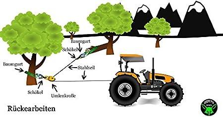 Seilrolle Umlenkrolle Baumgurt Schäkel Bergeset Forstset