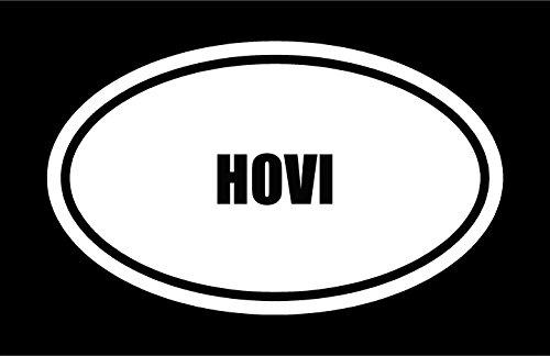 6-die-cut-white-vinyl-hovi-name-oval-euro-style-vinyl-decal-sticker