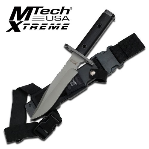 MTECH USA XTREME Mx-8077 Fixed Blade Bayonet Knife 12.5-Inch Overall