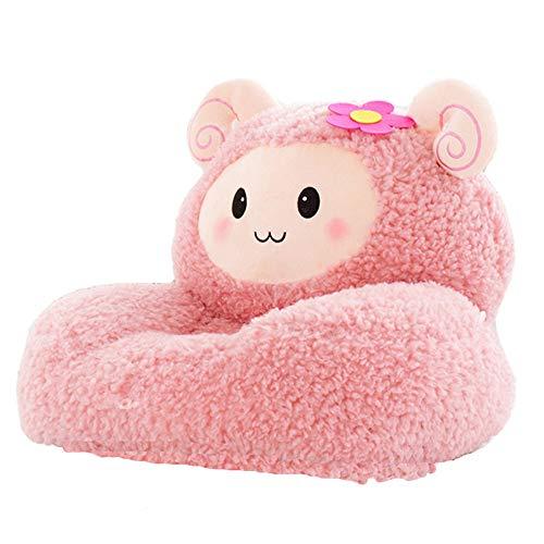 (w.una Kids Mini Lounger Sofa,Bean Bag Chair,Novelty Gift Pink Fluffy Sheep PP Cotton Cute Cartoon Washable 21