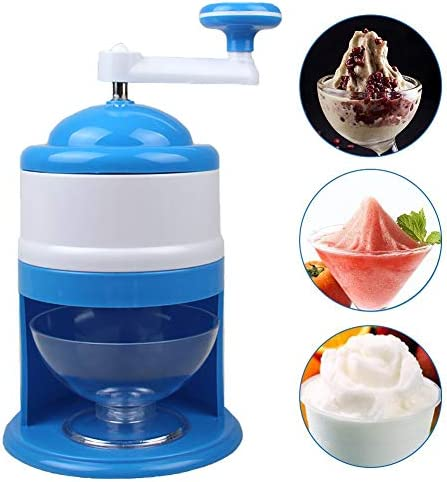 Semine Portable Ice Crusher Manuelle Ice Shaver Crusher Zerkleinern Schneekegel Maker Maschine für Home Kitchen