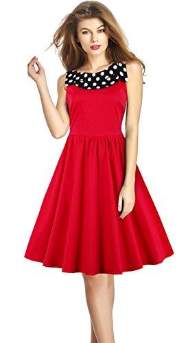 Killreal-Womens-Sexy-Polka-Dot-Print-Collar-Vintage-Cocktail-Backless-Dress