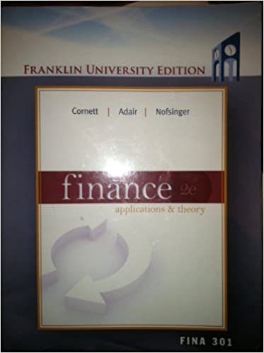 Book Finance Applications & Theory 2e, Franklin University Edition