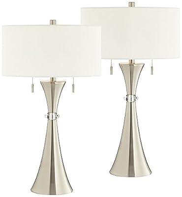 Rachel Concave Column Metal Table Lamp Set of 2