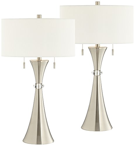 Rachel Concave Column Metal Table Lamp Set of 2 by 360 Lighting