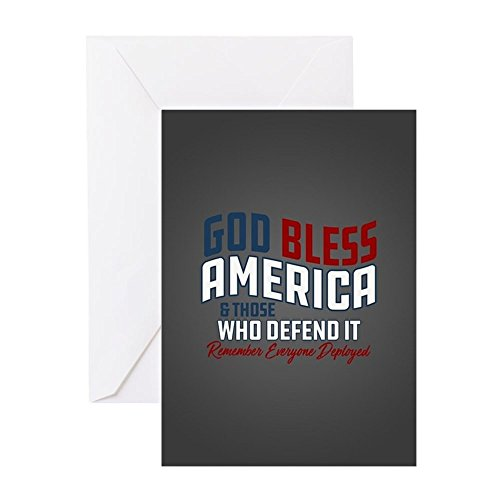 CafePress - God Bless America RED Friday - Greeting Card, Note Card, Birthday Card, Blank Inside Matte