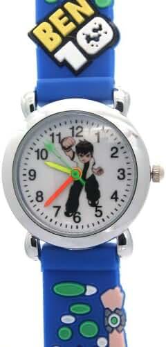 Ben 10 Ultimate Boys Alien Blue Rubber Strap Waterproof Analogue Quartz Watches for Kids