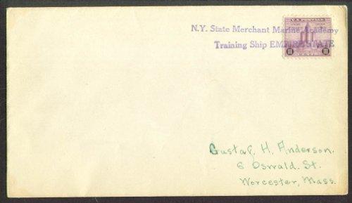 Merchant Marine Ship S S Empire State postal cover 1933 -