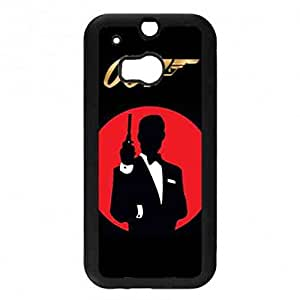Fantasy Amazing Spectre 007 James Bond Funda,007 Spectre Funda Black Hard Plastic Case Cover For Htc One M8