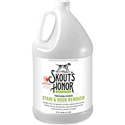 Skout's Honor Professional Strength, All-Natural Pet Stain & Odor Remover - Non-Toxic, Biodegradable, and Eco-Friendly - Destroys Stinky Odor Molecules On Contact - 128-Ounce Bottle