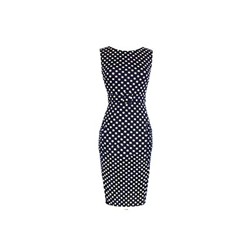 Buy belted polka dot dress - 1