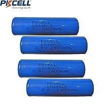 4 Pcs 3.6V 2400mah AA Size ER14505 14505 Li-SOCl2 Lithium Non-rechargeable Battery