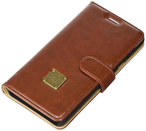 QIOTTI Q. Book Classic Premium Eco Étui Livret en cuir synthétique pour Samsung Galaxy Note 5–Marron