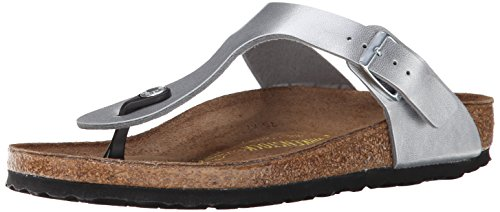 Birkenstock Women's GIzeh Thong Sandal, Silver, 41 M EU/10-10.5 B(M) US (Best Shoes For Music Festivals)