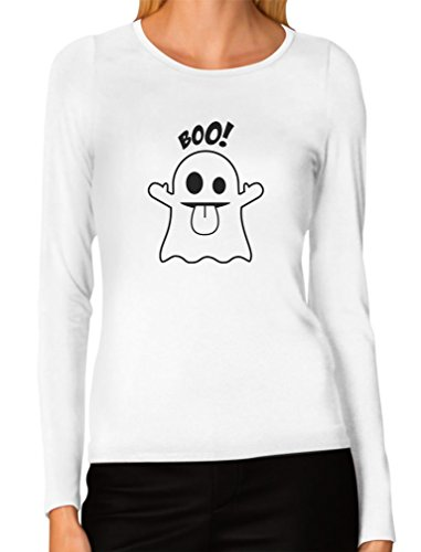 Boo Ghost Easy Halloween Costume Funny Women Long