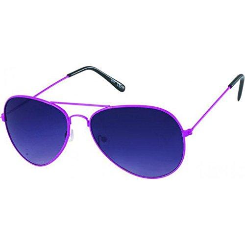 Chic-Net Sonnenbrille Unisex Pilotenbrille Pornobrille Fliegerbrille getönt 400UV Braun Lila 3 Varianten 53SxRH