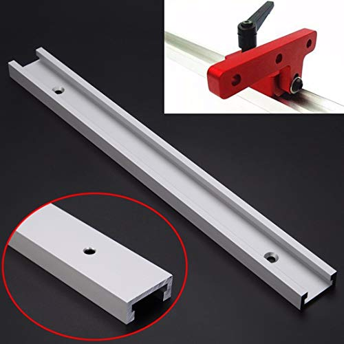 1pc New Aluminum Alloy T-track T-slot 300mm Length with Screw For Woodworking Router Table Saw Tools Discount Portable Massage Table