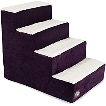 4 Step Portable Pet Stairs By Majestic Pet Products Villa Aubergine Steps  For Cats And Dogs