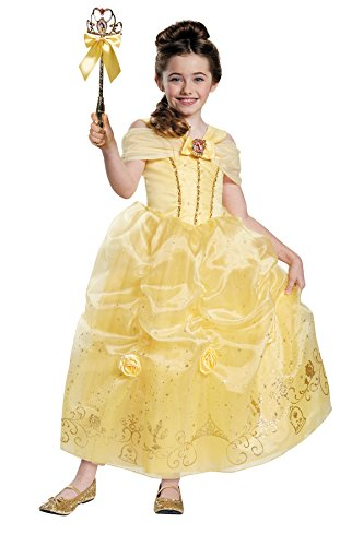 Disney Halloween Outfits (UHC Disney Princess Belle Prestige Outfit Child Fancy Dress Halloween Costume, Child S (4-6X))