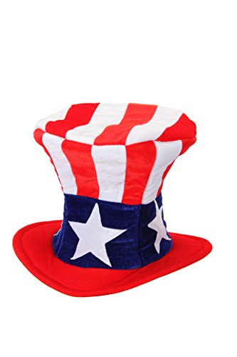 elope USA Uncle Sam Costume Plush Hat for