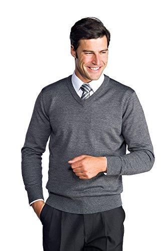 Meister–Pullover V-Neck Grau