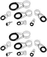 Baosity 14Pcs Fishing Rod Guide Ceramic Ring Telescopic Surf Casting Fishing Rod Tips